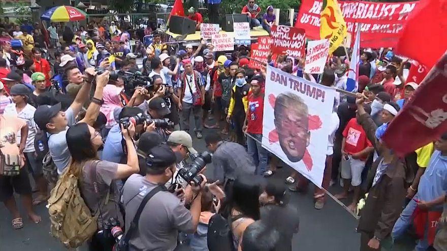Trump aguardado com protestos nas Filipinas