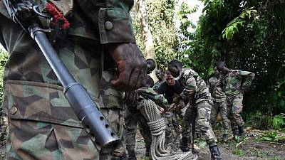 Abidjan - Côte d'Ivoire : stage pour les soldats formés par la France