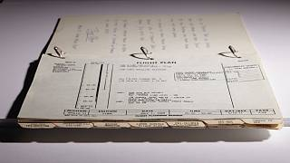 """The """"Timeline Book"""" used by Apollo 11 astronauts."""