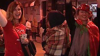 احتفالات كبيرة في المغرب وتونس بعد التأهل لمونديال روسيا