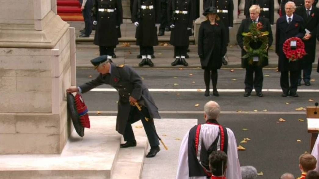 Prince Charles lays wreath on Queen's behalf on Remembrance Sunday