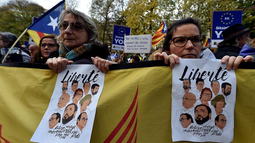 Βρυξέλλες: Συγκέντρωση υποστήριξης στον πρώην πρόεδρο της Καταλονίας