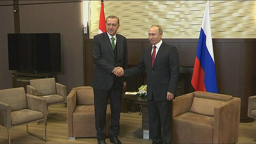 Erdogan y Putin, cita en Sochi