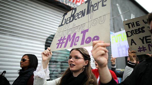 Cinsel tacize 'ben de uğradım' protestosu