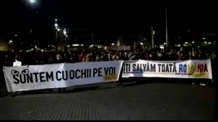 Az adóreform ellen tüntettek Romániában