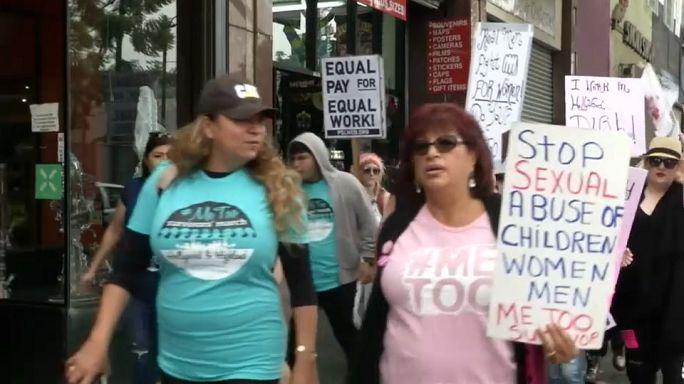 Marcha en Hollywood contra el acoso y abuso sexual