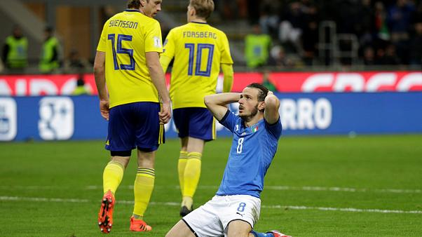 Football: Italy fail to qualify for a World Cup for the first time in 60 years