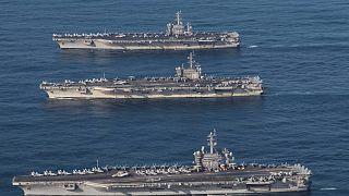 Maniobras navales aumentan la tensión en el Pacífico