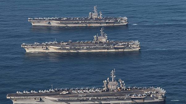 US holds naval drill in South Korean peninsula