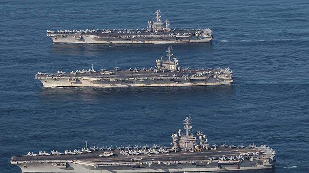 ABD, Japonya ve Güney Kore ortak tatbikatı sürüyor