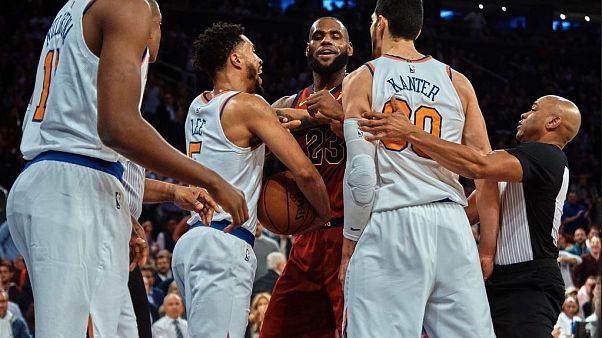 NBA: Enes Kanter LeBron James gerginliği