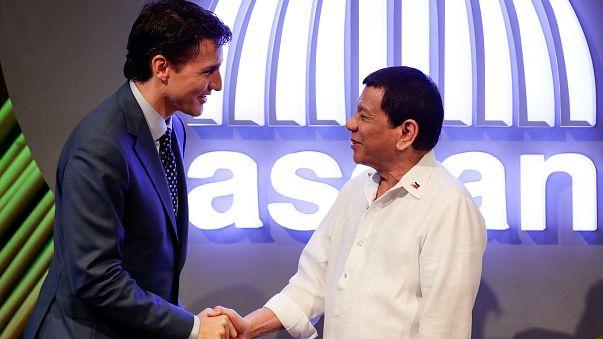 ASEAN : Trudeau parle des droits de l'Homme