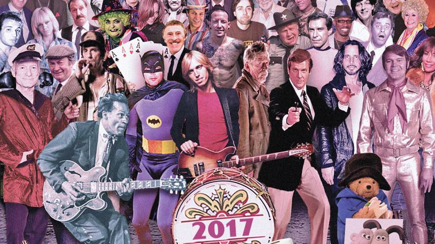 British artist updates Beatles' Sgt Pepper cover featuring 2017's dead celebrities