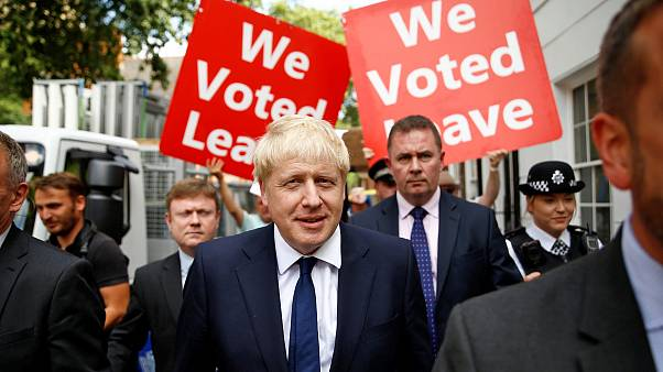 Image: Boris Johnson leaves his office in London