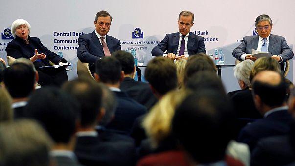 Dünya'nın önde gelen merkez bankası başkanları Frankfurt'ta bir araya geldi
