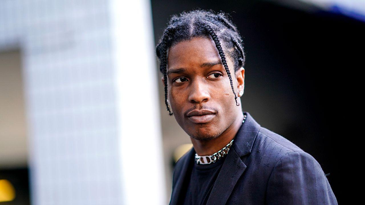 Image: ASAP Rocky in Paris on June 24, 2018.