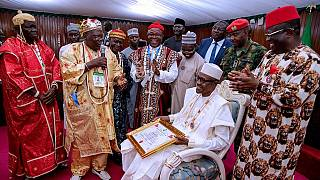 Biafra separatists checked as Buhari gets top title on visit to Igboland