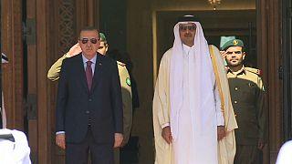 دومین دیدار اردوغان از قطر پس از آغاز بحران این کشور با عربستان