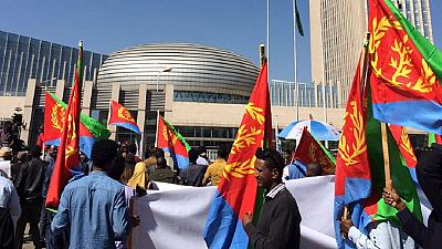 [Photos] Ethiopia allows anti-Eritrea march to A.U. despite protest ban
