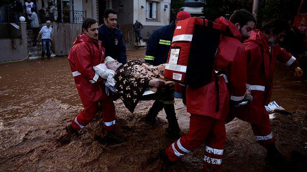 Schlimme Unwetter mit 14 Toten in Griechenland