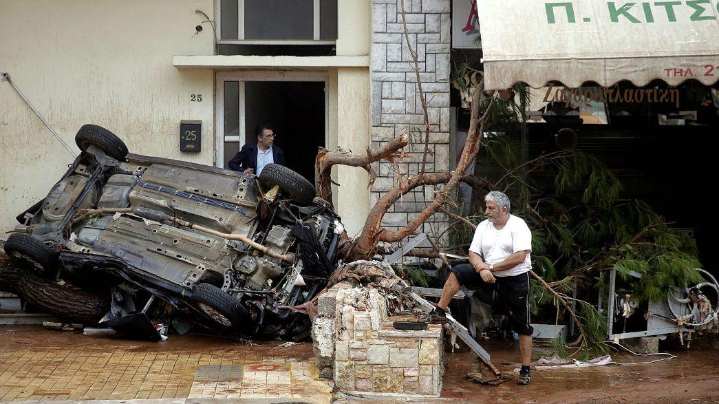 At least 15 dead in Greek flash floods