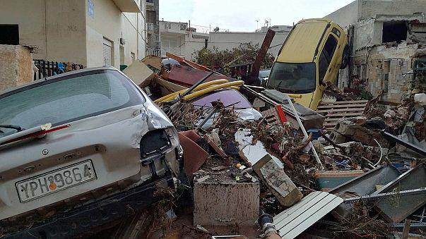 Греция: последствия наводнения