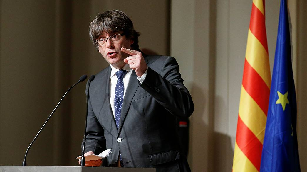 Puigdemont appears  in court in Brussels to fight extradition