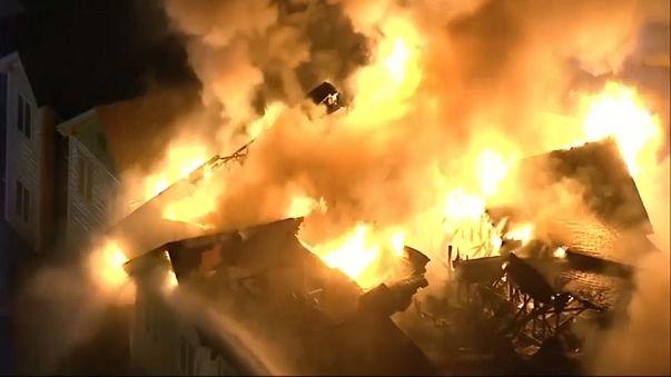 Violent incendie près de Philadelphie