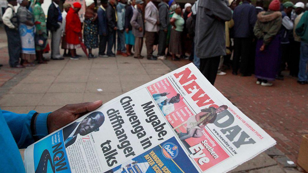 Zimbabwe's ruling party moves to depose Mugabe
