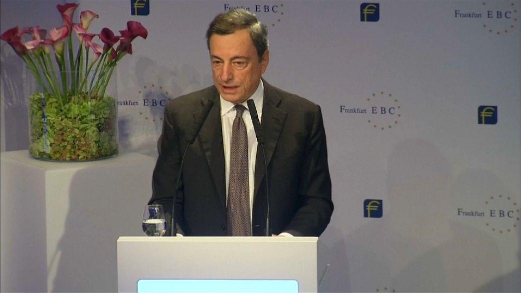 """Draghi: """"sólida expansão económica"""" na zona euro"""