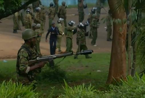 Kenyan police disperses opposition supporters, at least 3 killed