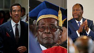Mugabe must go: Botswana's Khama and Ivory Coast's Ouattara back exit calls