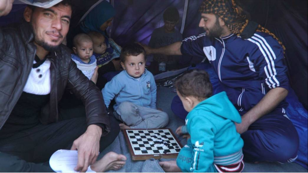 Chaos on Chios as refugee camp unable to shelter everyone