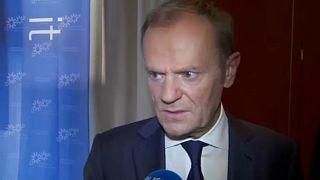 """رئيس المجلس الأوروبي دونالد توسك ليورونيوز:""""ليس هناك طريق مسدود بشأن مفاوضات البريكسيت"""""""