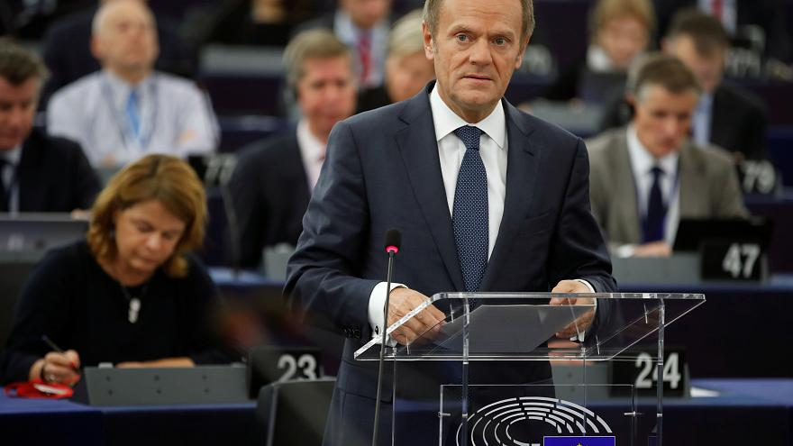 Exclusive: Tusk says 'no deadlock' in optimistic assessment of Brexit talks