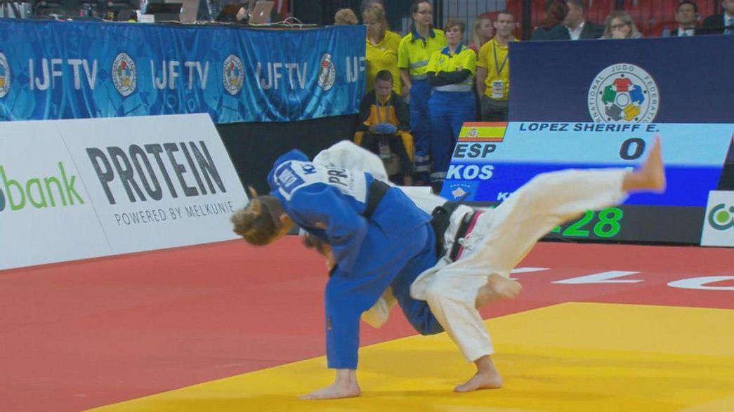 Kosovo celebrates two golden girls at The Hague Grand Prix