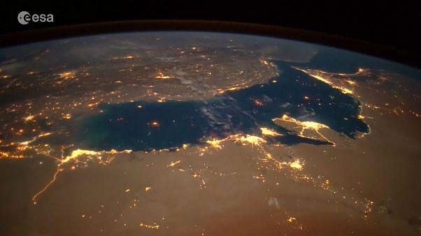 خلیج فارس و ناهید از ایستگاه فضایی بینالمللی