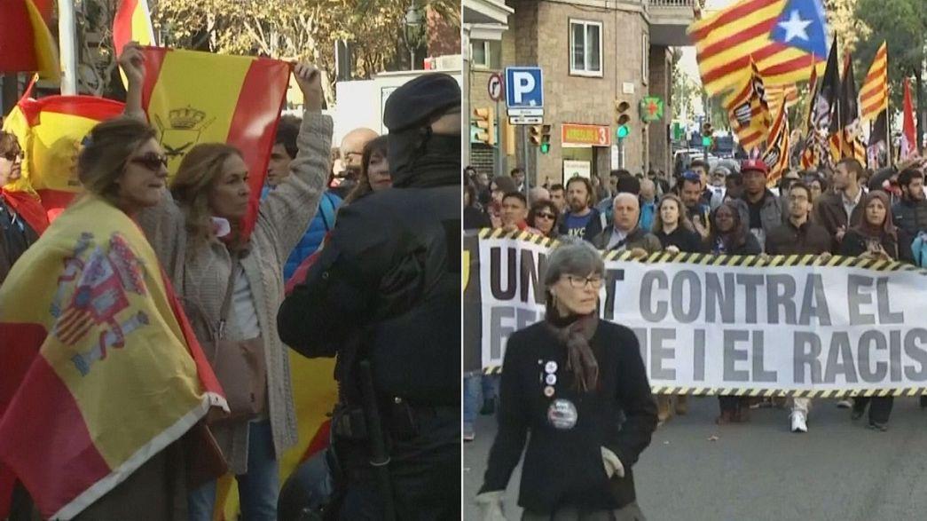 Barcellona: neofascisti vs indipenentisti catalani