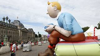 Rare Tintin drawing sells for more than 500,000 euros at Paris auction