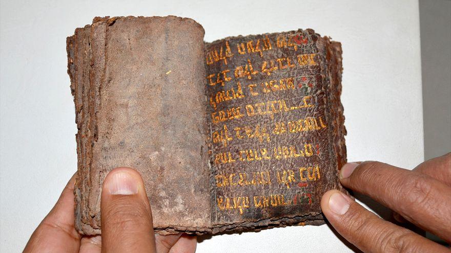 Muğla'da ceylan derisi üzerine altın yazmalı Tevrat ele geçirildi
