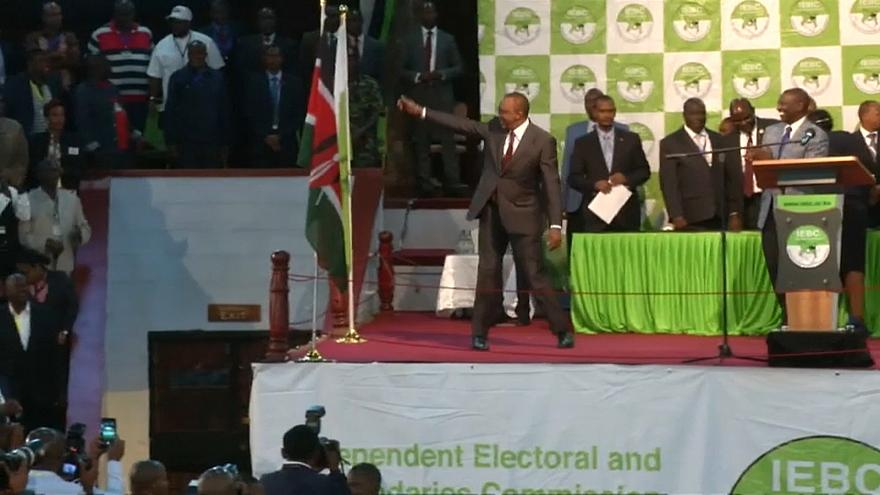 Yeniden seçime giden Kenya'da Uhuru Kenyatta'nın başkanlığı onandı