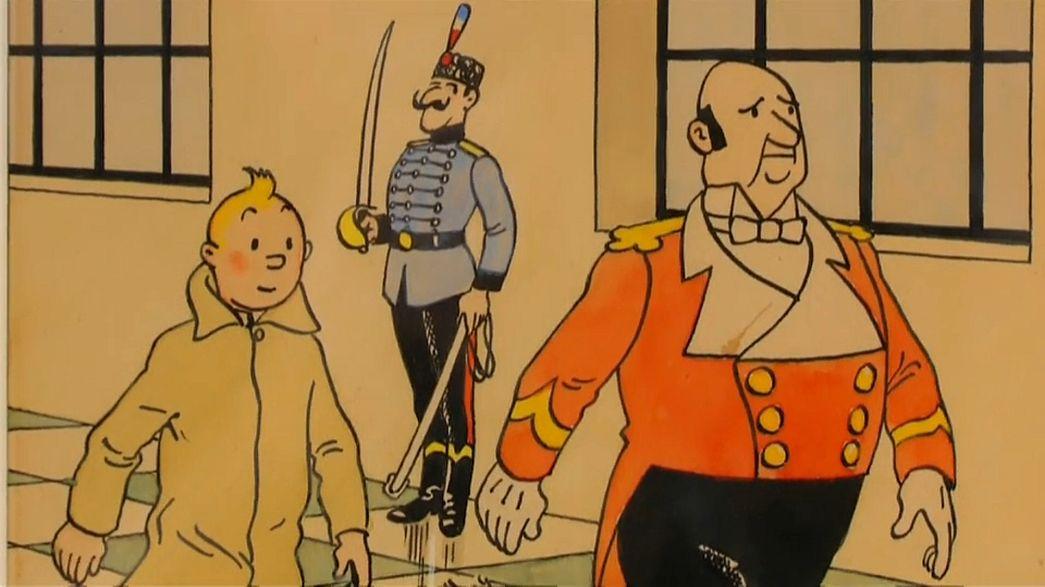 Desenho de Tintin vendido por meio milhão de euros