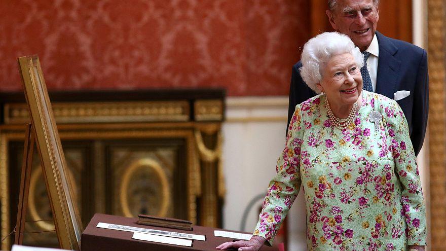 Britain's Queen Elizabeth celebrates her 70th wedding anniversary
