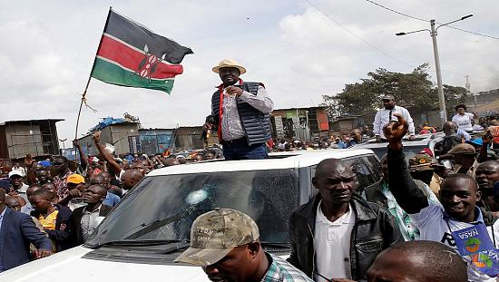 Kenyan police clash with opposition supporters welcoming Odinga [no comment]