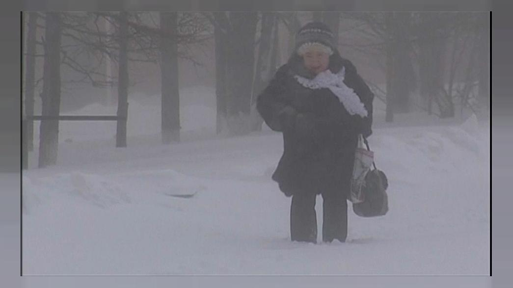Магадан под снегом