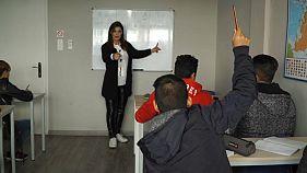 School for refugee minors on Greek island