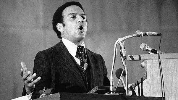Image: Andrew Young, United States Ambassador to the United Nations, speaks