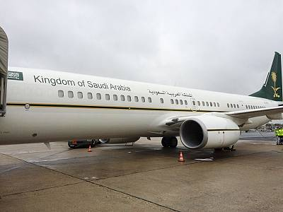 The plane used in the rendition of a Saudi prince in France.