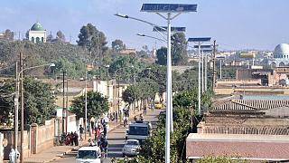 Eritrea capital Asmara employs solar energy to power street lights