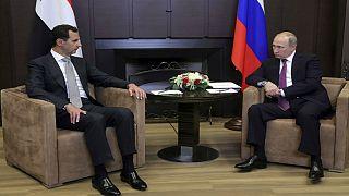 دیدار ولادیمیر پوتین و بشار اسد در روسیه